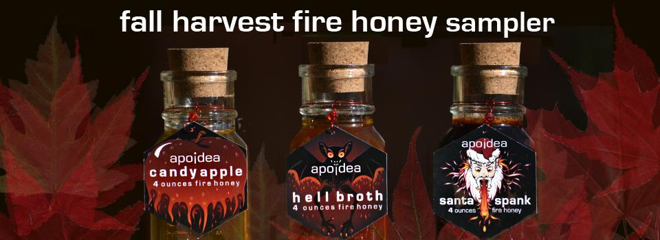 fall harvest fire honey sampler